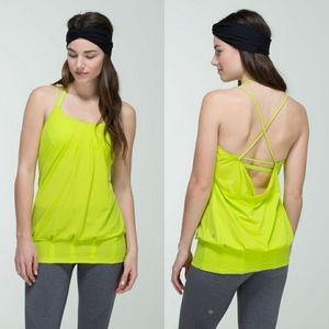 Lululemon Flow and Go Antidote Green Tank